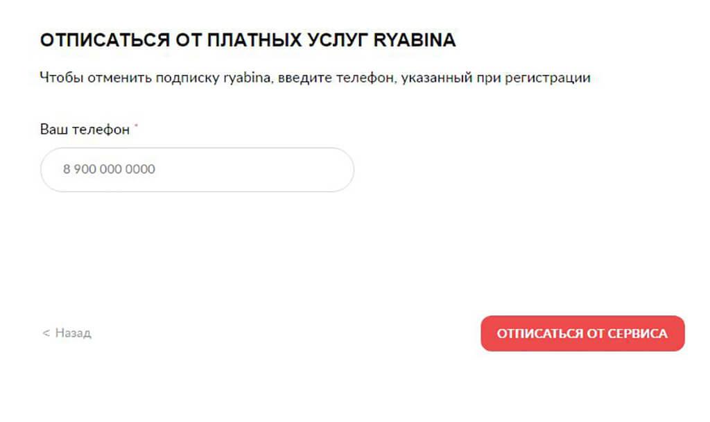 На новой странице укажите свой номер телефона
