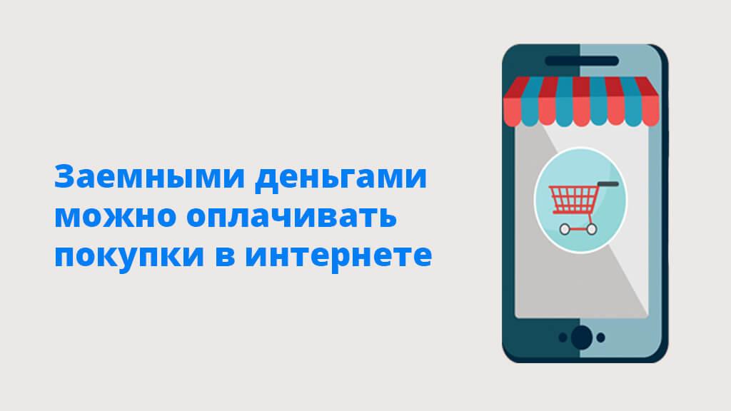 Заемными деньгами можно оплачивать покупки в интернете