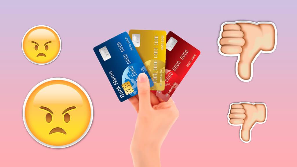 Невыгодные кредитные карты: антирейтинг банков